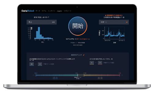 図1.1.3:DataRobotの画面 - DataRobot社はプログラミングせずクリックだけで自社データからAIモデルを生成できるAIプラットフォームを提供している